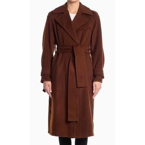 VINCE Belted Wool Blend Trench Coat NWT